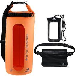 Freegrace Waterproof Dry Bags Set Of 3 By Dry Bag With 2 Zip Lock Seals & Detachable Shoulde ...
