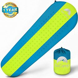 BeCamp Self Inflating Sleeping Pad – Sleeping Pad – Lightweight Sleeping Pad – Mat f ...