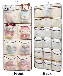 SLEEPING LAMB Dual-Sided Hanging Closet Organizer for Underwear, Stocking, Toiletries Accessorie ...