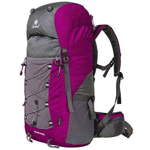 Coreal 50L Hiking Backpack Camping Rucksack Trekking Daypack Climbing Bag Pink