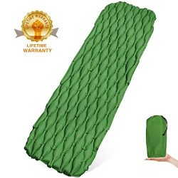 Wuayur Ultralight Sleeping Pad – Inflatable Camping Mat for Backpacking,Traveling and Hiki ...