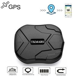 TKMARS GPS Tracker Waterproof Tracking Device 3 Months Standby Tracker Mini Portable Tracker Rea ...