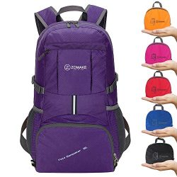 ZOMAKE Ultra Lightweight Hiking Backpack, 35L Packable Water Resistant Travel Daypack Shool Bag  ...