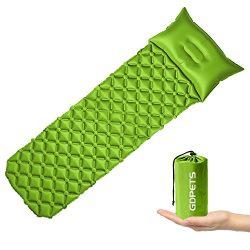 GDPETS Lightweight Sleeping Pad Waterproof Inflatable Air Camping Mat Portable Sleeping Bag Pill ...