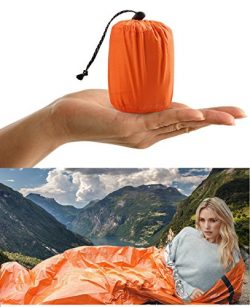 ACVCY Life Bivy Emergency Sleeping Bag Thermal Bivy – Use as Emergency Bivy Sack, Survival ...