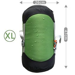 WIND HARD Compression Stuff Sack Waterproof Sleeping Bag Compression Stuff Sack Pack Storage Bag ...