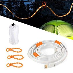 YINGSHOU LED Rope Lights for Camping Hiking Safety and Emergency – Portable LED Strip Ligh ...