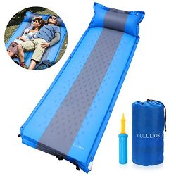 LULULION Self Inflating Sleeping Pad, Foam Camping Mat with Pillow Light Weight Camping Air Matt ...