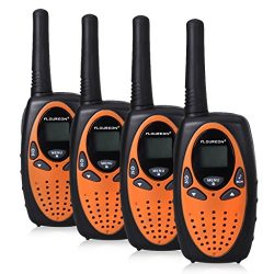FLOUREON 4 Packs Walkie Talkies Two Way Radios 22 Channel 3000M (MAX 5000M open field) UHF Long  ...
