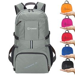 ZOMAKE Hiking Backpack, 35L Lightweight Foldable Travel Daypack Shool Bag for Outdoor Camping(Si ...