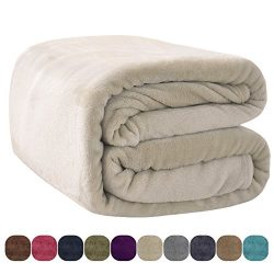 VEEYOO Luxury Flannel Fleece Bedding Blanket – Extra Soft Lightweight Fleece Blanket, All  ...