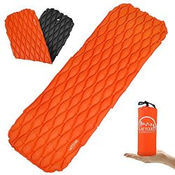 LATTCURE Inflatable Sleeping Pad Lightweight Compact Comfy Waterproof Air Camping Mat – Be ...