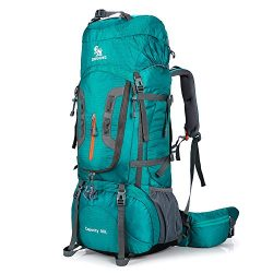 ONEPACK 80L Internal Frame Hiking Backpack for Women and Men, Climbing Backpack fit Outdoor Trav ...