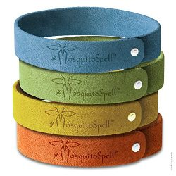 Mosquito Repellent Bracelet 12pcs, 100% All Natural Plant-Based Oil, Non-Toxic Travel Insect Rep ...