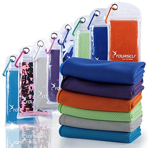 SYOURSELF Cooling Towel for Instant Relief Cool Bowling Fitness Yoga Towel-40 x12 Use as Cooling ...