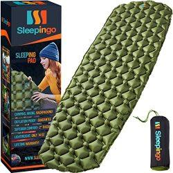 Sleepingo Camping Sleeping Pad – Mat, (Large), Ultralight 14.5 OZ, Best Sleeping Pads For  ...