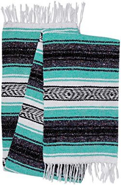 El Paso Designs Genuine Mexican Falsa Blanket – Yoga Studio Blanket, Colorful, Soft Woven  ...