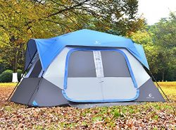 ALPHA CAMP 8 Person Instant Cabin Tent Camping/Traveling Family Tent Lightweight Rainfly with Mu ...