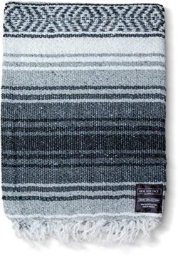 Mexican Blanket Authentic Falsa Thick Soft Woven Acrylic Serape for Yoga or as Beach Throw, Picn ...