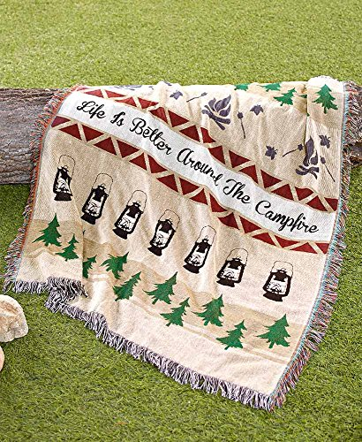 The Lakeside Collection Campfire Tapestry Throw