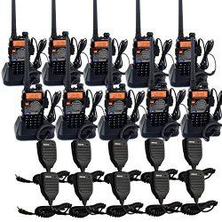 Retevis RT-5RV 2 Way Radios 5W VHF/UHF Radio 128CH Dual Band 136-174/400-520 MHz VOX CTCSS/DCS F ...