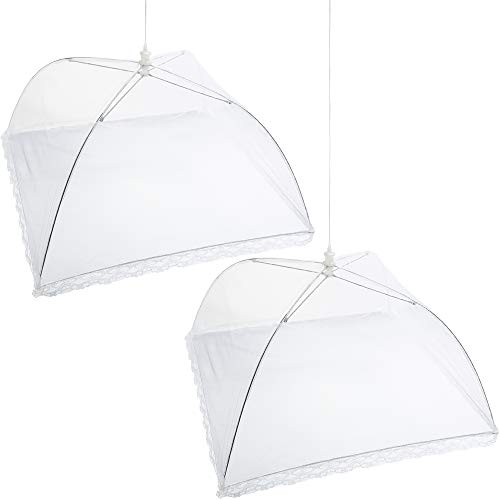 Mesh Screen Food Cover Tents – Set of 2 Large Galvanized Steel Wire Pop-Up Tents, Stylishl ...
