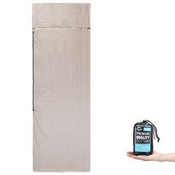 ieGeek Lightweight Sleeping Bag Liners, Cotton Travel and Camping Sheet with Zipper for Outdoor, ...