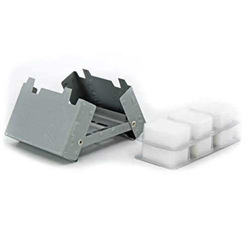 Esbit Ultralight Folding Pocket Stove with Six 14g Solid Fuel Tablets