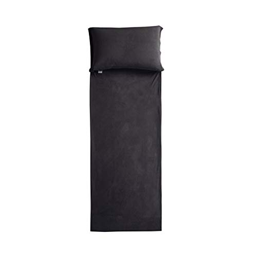 Lightweight Sleeping Bag Liner Sheet – Travel Sleeping Bag – Black – Hypoaller ...