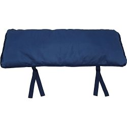 Sunnydaze Large Hammock Pillow with Ties, Outdoor Camping Pillow, Weather Resistant, Navy Blue