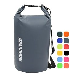 MARCHWAY Floating Waterproof Dry Bag Backpack 5L/10L/20L/30L/40L, Roll Top Sack Pack Keeps Gear  ...