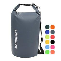 MARCHWAY Floating Waterproof Dry Bag Backpack 5L/10L/20L/30L/40L, Roll Top Sack Pack Keeps Gear  ...