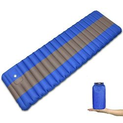ELECTRFIRE Camping Sleeping Pad Lightweight Inflatable Air Camping Mat with Built in Pump for Tr ...