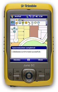 TRIMBLE JUNO SC GPS DATA COLLECTION PDA GIS Bluetooth WiFi Handheld