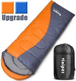VINIPER Sleeping Bag, Comfort, Waterproof and Lightweight Envelope Sleeping Bag with Compression ...