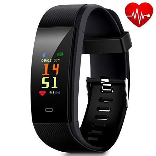 Waterproof Fitness Tracker, Smart Watch with Pedometer for Walking, Heart Rate Monitor, Blood Pr ...