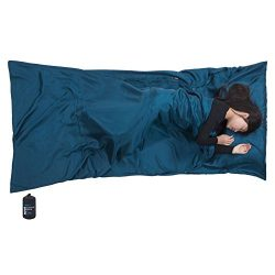"Browint Silk Sleeping Bag Liner, Silk Sleep Sack, Extra Wide 87""x43"", Lightweight Travel Sheet f ..."