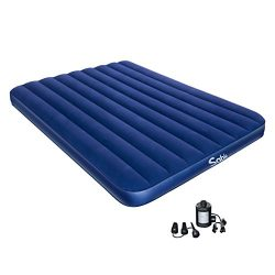 Sable Camping Air Mattress Electric Air Pump, Upgraded Inflatable Air Bed Blow up Bed Car Tent C ...