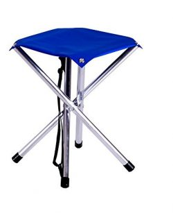 Camp Time Jumbo Stool, Chair height Sitting Comfort, 300 pound capacity, Elegant folding design, ...