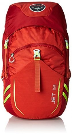 Osprey Youth Jet 18 Backpack, Strawberry Red, One Size
