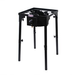 Gas ONE Portable Propane 100,000-BTU High-Pressure Single-Burner Outdoor Camp Stove Adjustable L ...