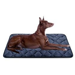 Dog Bed Mat Washable – Soft Fleece Crate Pad – Anti-Slip Matress for Small Medium La ...