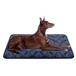 Dog Bed Mat Washable – Soft Fleece Crate Pad – Anti-Slip Matress for Small Medium La ...