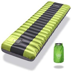 ENKEEO Inflated Sleeping Pad Lightweight Inflatable Camping Mat Comfortable & Ergonomic Text ...