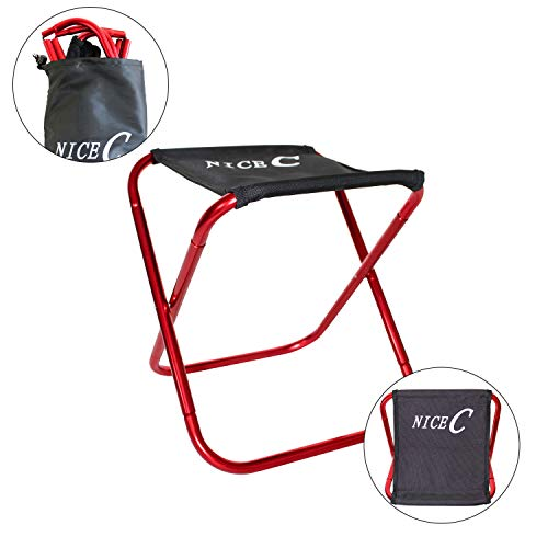 NiceC Portable Folding Stool Ultralight Camping Chair with Carry-Bag Heavy Duty for Outdoor, Cam ...