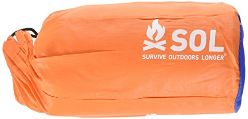 S.O.L. Survive Outdoors Longer 2-Person Emergency Bivvy, 90 Percent Heat Reflective, Durable Per ...