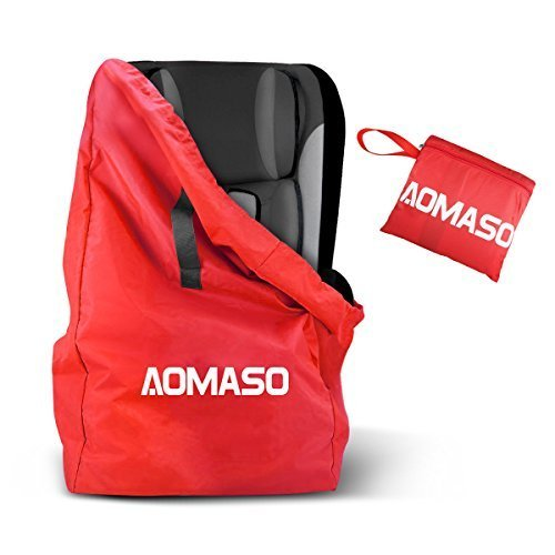 Aomaso Gate Check Travel Bag with Strap, Waterproof Backpack for Child Seats, Car Seats, Booster ...