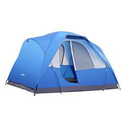 SEMOO Water Resistant Lightweight 5 Person D-Style Door Large Family Camping/Travelling Tent wit ...