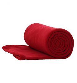 E-Onfoot Fleece Sleeping Bag Liner, Camping Sleep Sack Travel Sheet Zipper (Red)