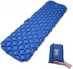 MyRonin Ultralight Outdoor Sleeping Pad, Inflatable, Moisture-Proof, with Bag, Compact for Campi ...